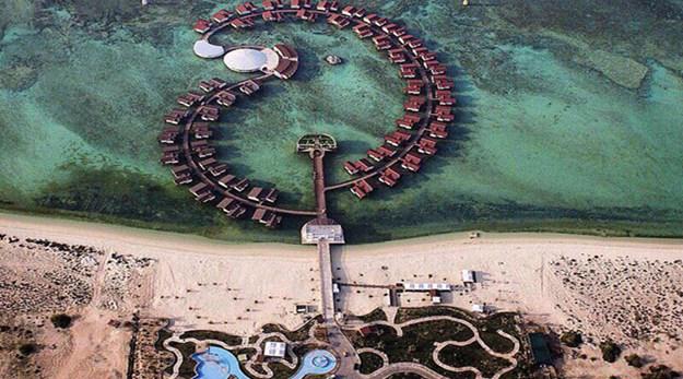 نمای هتل دریایی ترنج کیش-ترنج