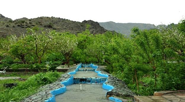 نمای زیبا از فضای سبز هتل بزرگ بیرجند-بزرگ کوهستان