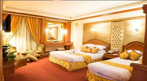 نمای اتاق های هتل قصر طلایی مشهد -قصر طلایی