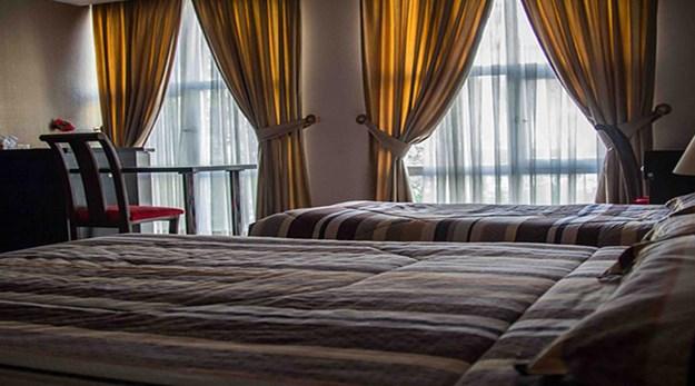 نمای اتاق هتل پاریز تهران-پاریز