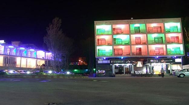 نمای بیرونی هتل ساسان سرعین-ساسان